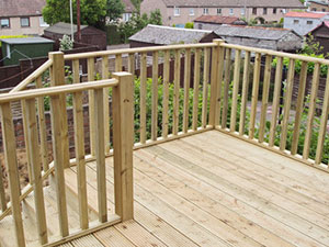 Image of a backyard deck