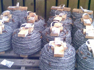 Image of Spools of wire mesh